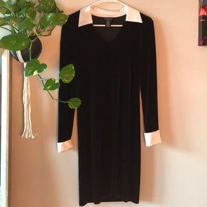 "Willi Smith Black Velvet ""Wednesday Adams"" Dress"
